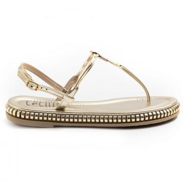 sandali donna cecile 2388mirva platino 7431