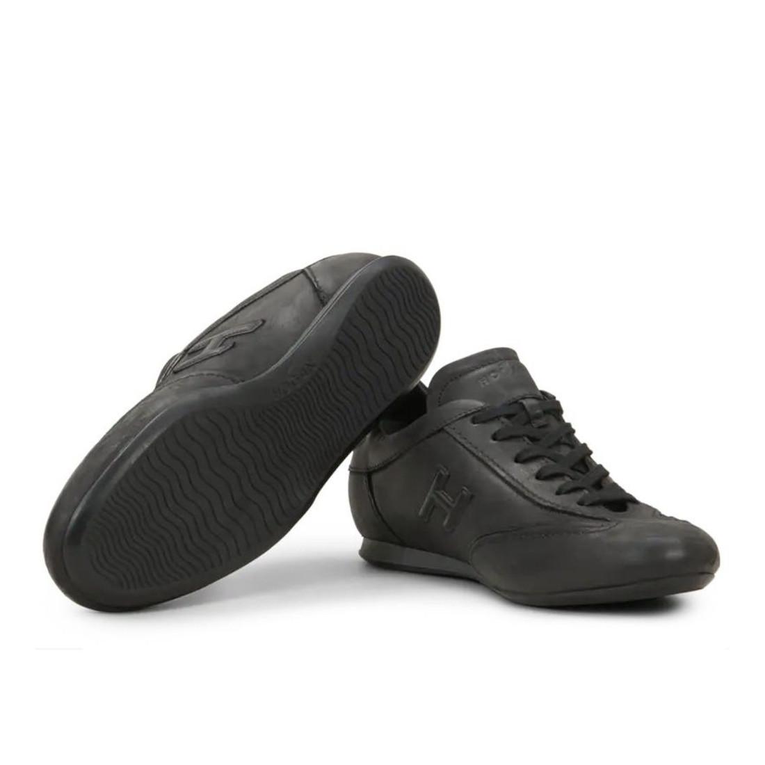 Sneakers Uomo Hogan Olympia nere in pelle vintage