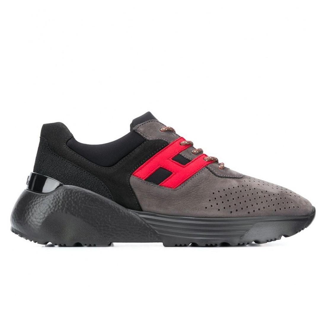 Sneaker da uomo Hogan Active One grigia, nera e rossa