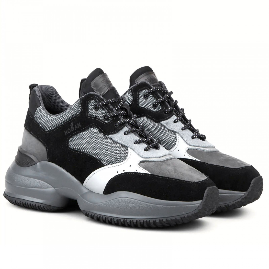Sneaker da uomo Hogan Interaction grigia e nera