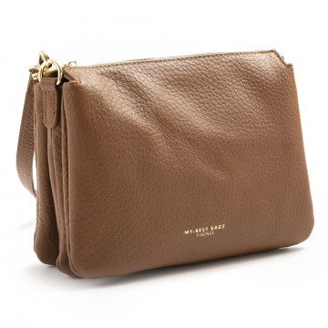 pochette donna my best bags myb6057cuoio 7588