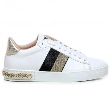 sneakers donna stokton 741dvit bianco nero 7580