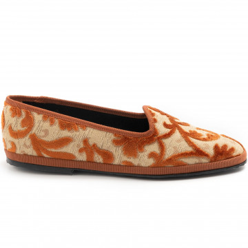 slip on donna cristinadimilano friulanedamasco mattone 7867