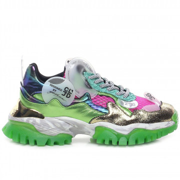 sneakers donna cljd 6f0330122 pink green 8202