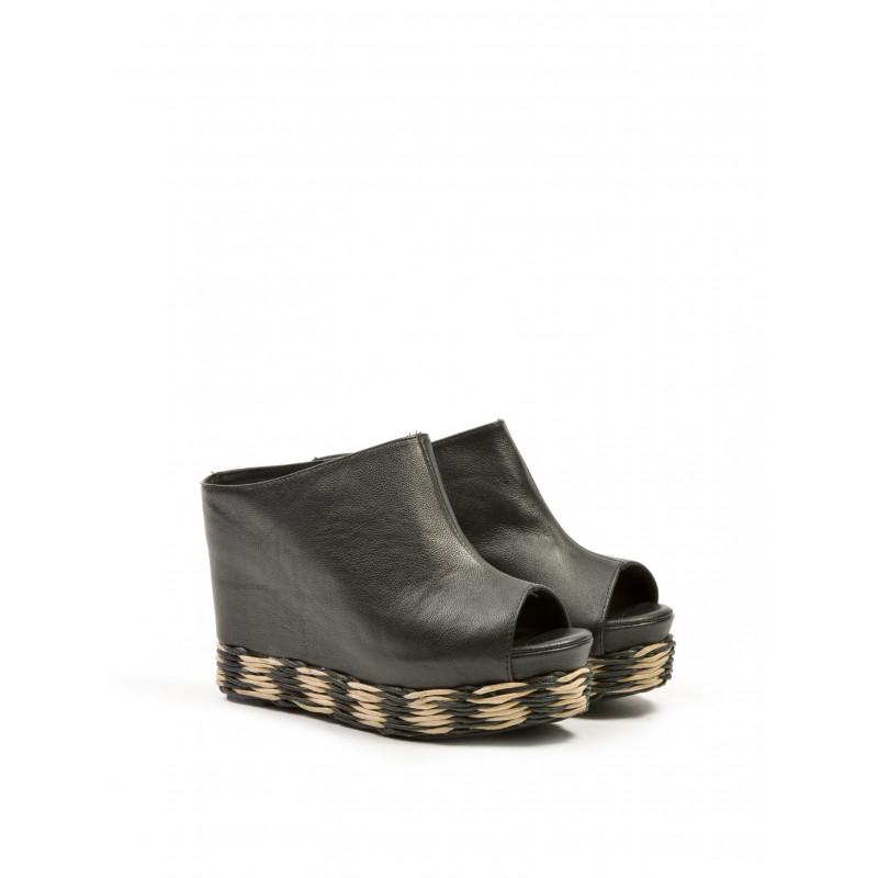 sandals woman jeffrey campbell virgo esp leather grainy blk