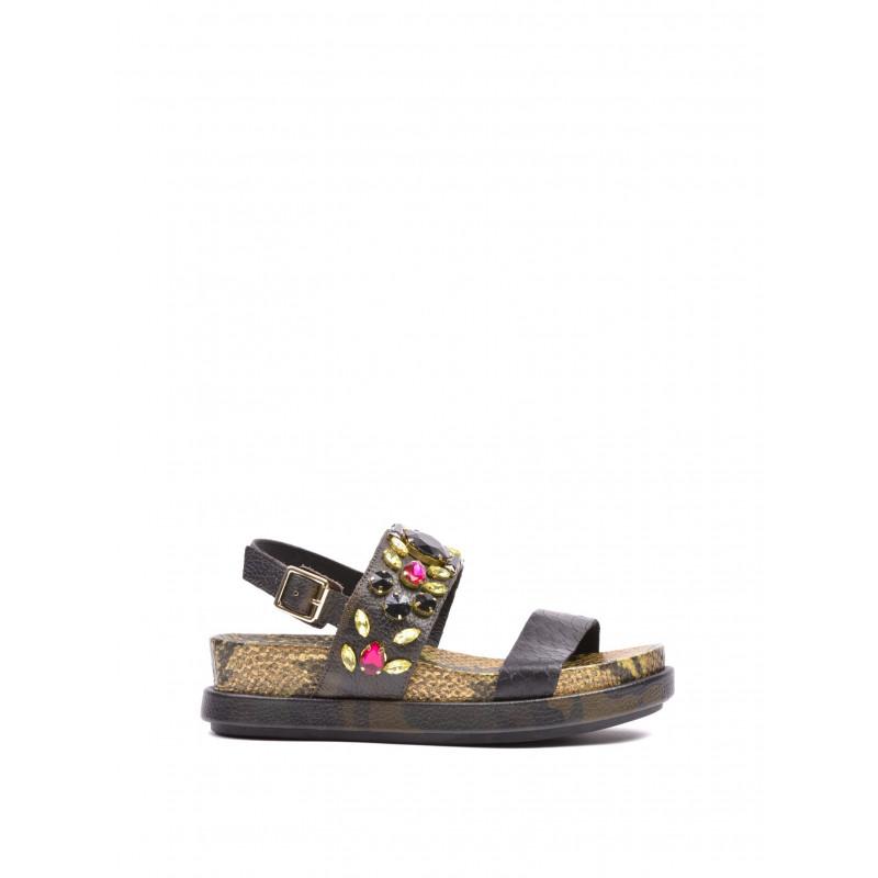 sandals woman ash stone nazaro flat black