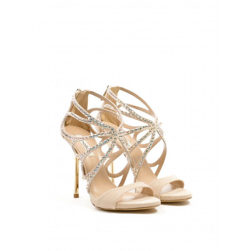 sandals woman ninalilou 261007 cam nettgold quartz