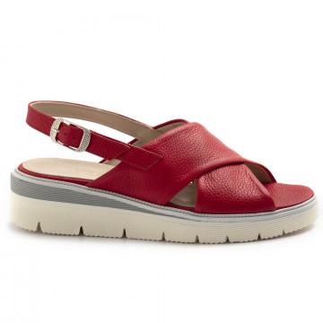 sandali donna sangiorgio 076bottalato rosso 8363