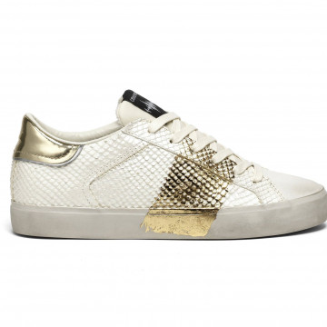 sneakers donna crime london 2555810 pitone oro 8359