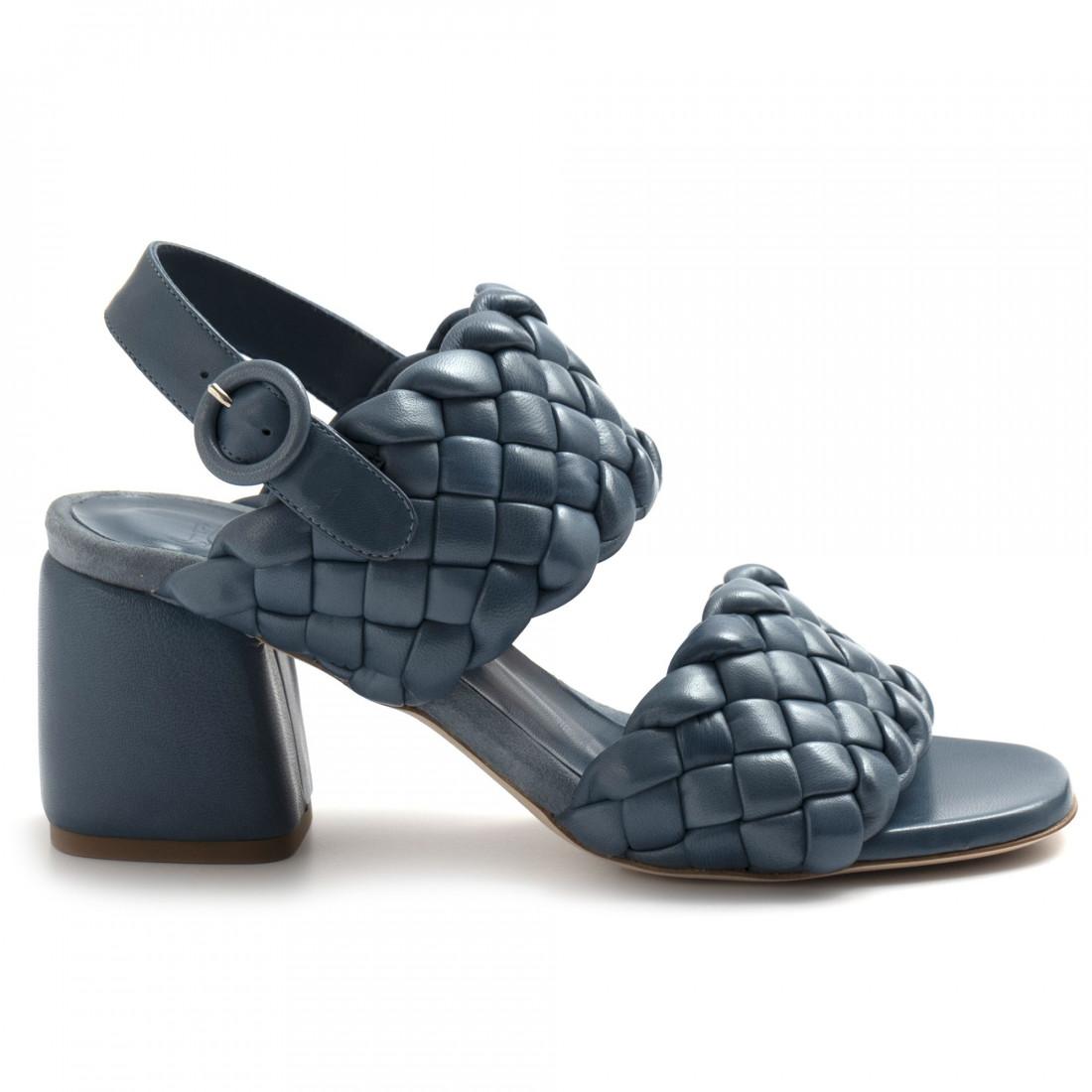 sandali donna lorenzo masiero 21132intreccio blu 8245