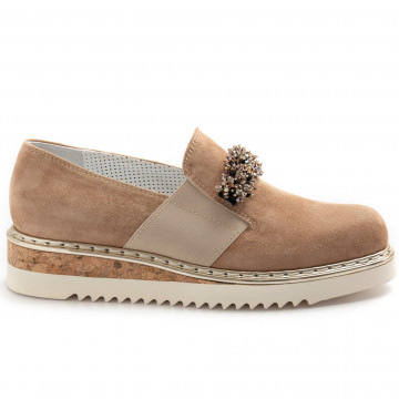 slip on donna alfredo giantin 7017camoscio biscuit 8415