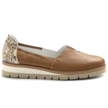 slip on donna alfredo giantin 7053pony pitone cuoio 8416