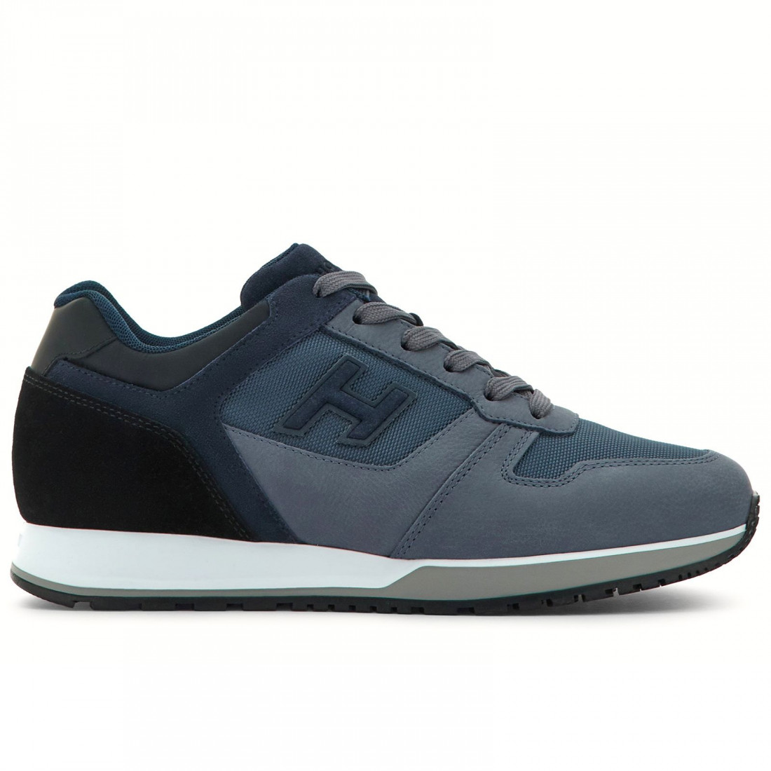 Sneaker Hogan H321 in blue nabuk and fabric