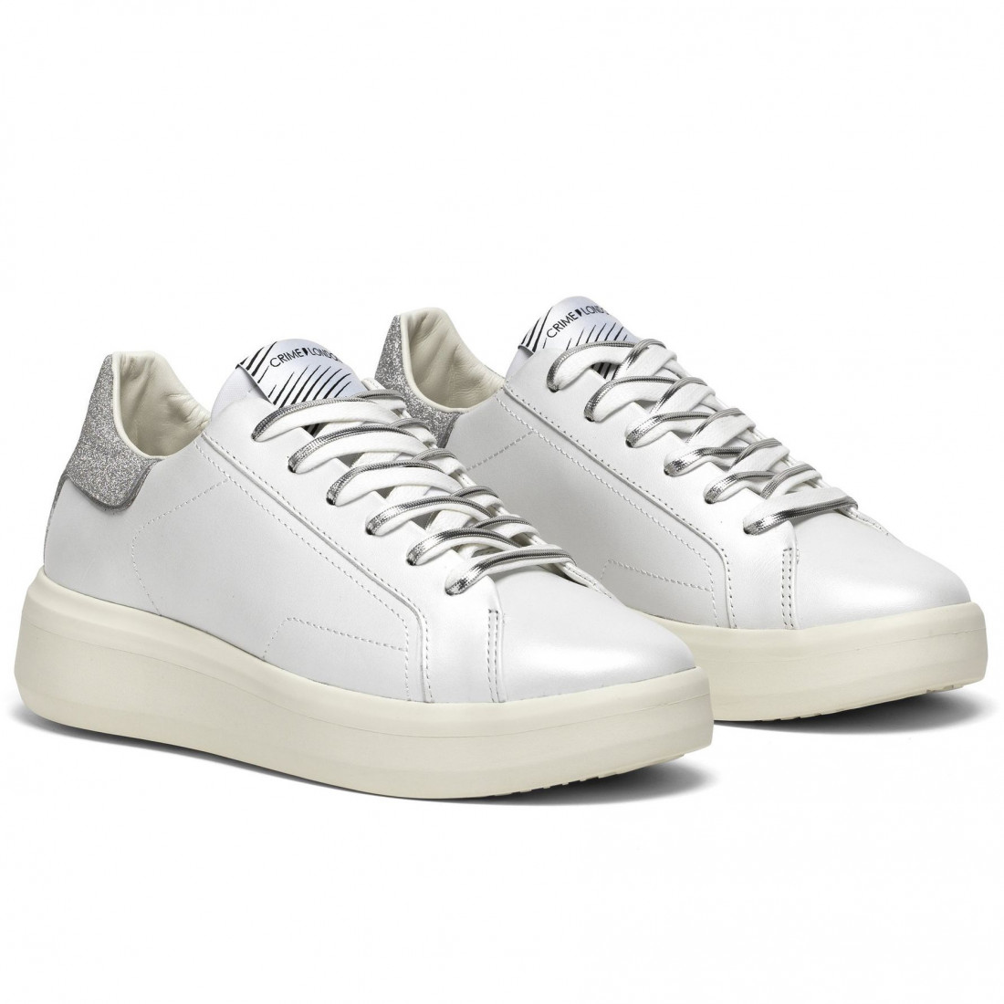 sneakers donna crime london 2530610 bianco 8440
