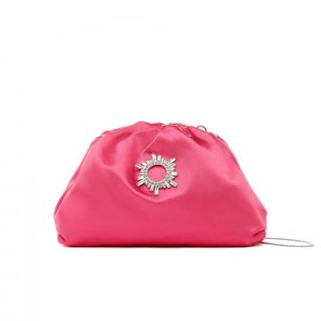 pochette donna twenty four haitch guavasatin rosa 8475