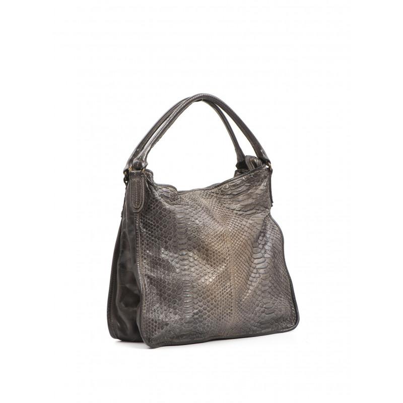 handbags woman reptiles house h 315 pitone sm taupe