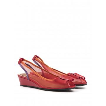 sandali donna sara 8147rete rosso 1346